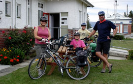 Four guest with bikes